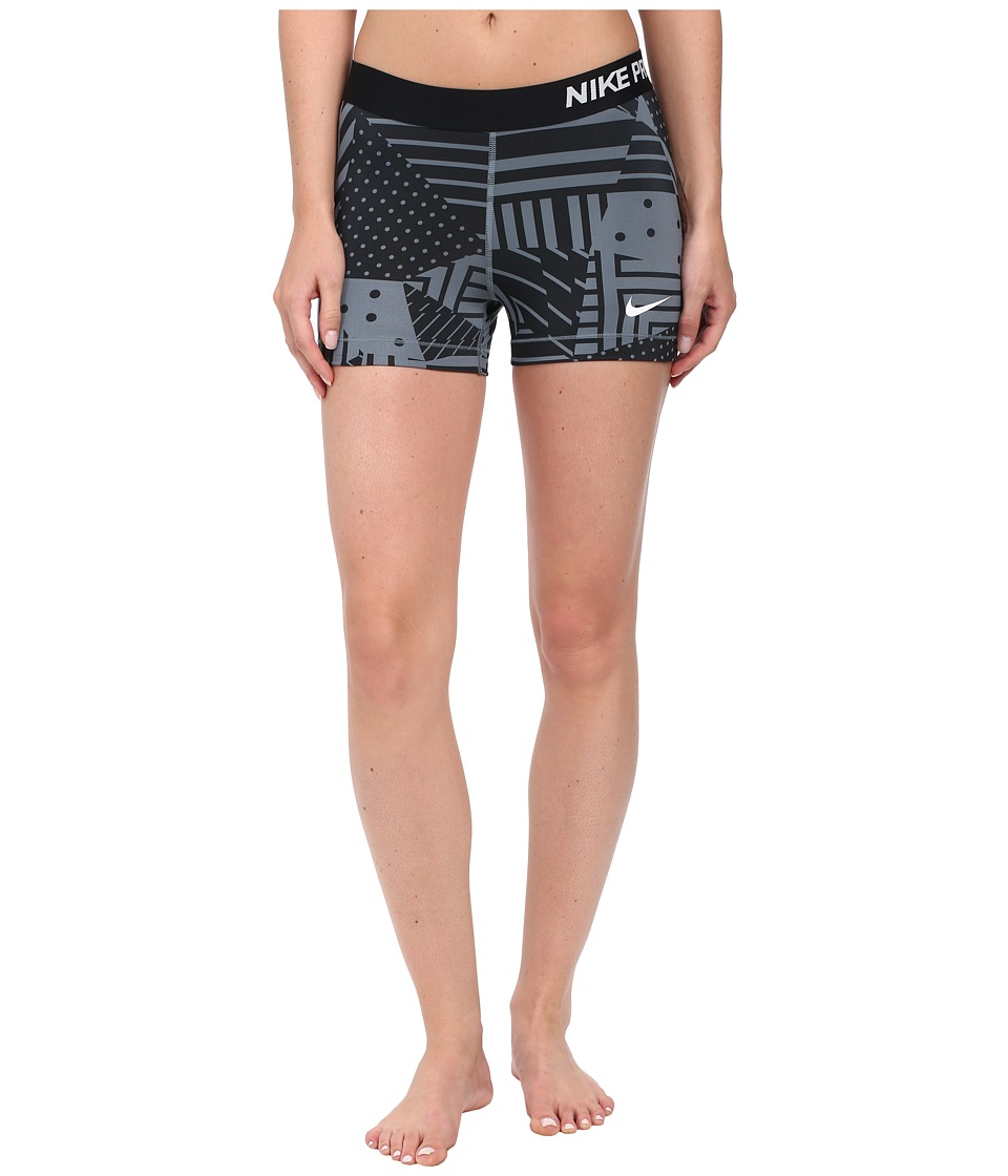 Nike - Pro Patch Work 3 Short (Blue Graphite/Black/White) Women's Shorts