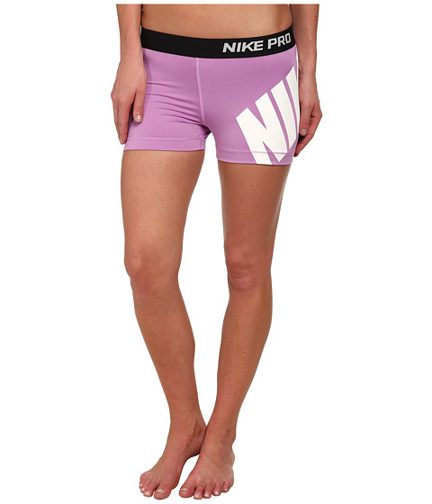 Nike - Pro 3 Logo Short (Violet Shock/Black/White) Women