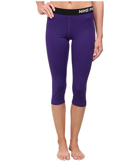 Nike - Pro Capri (Court Purple/Black) Women's Capri