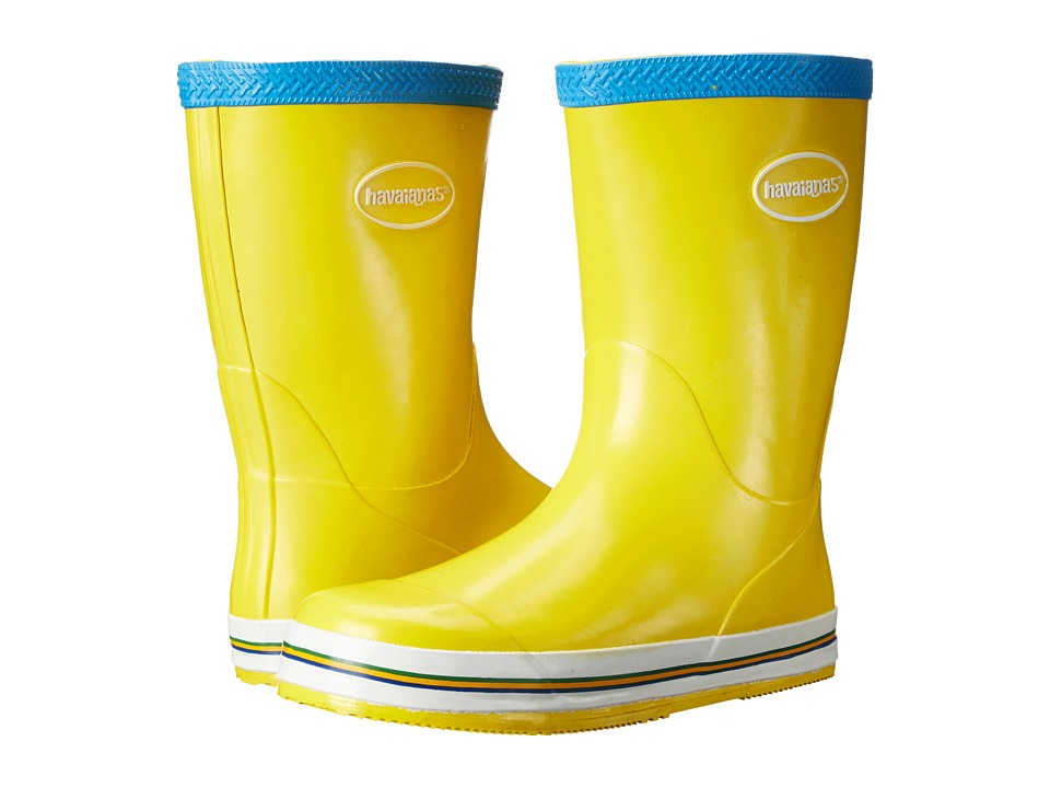 Havaianas Kids - Aqua Rain Boots (Toddler/Little Kid) (Yellow/Turquoise) Kids Shoes