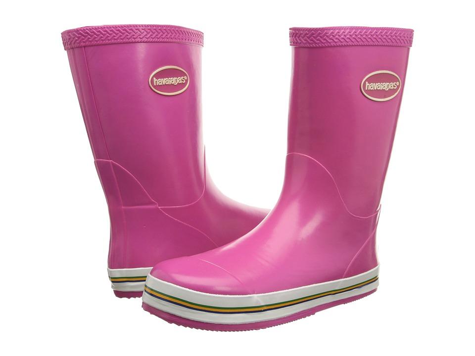 Havaianas Kids - Aqua Rain Boots (Toddler/Little Kid) (Super Pink) Kids Shoes