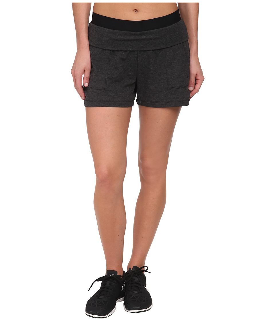 Nike - Dri-FIT Lightweight Obsessed Short (Black Heather/Black/Black) Women's Shorts