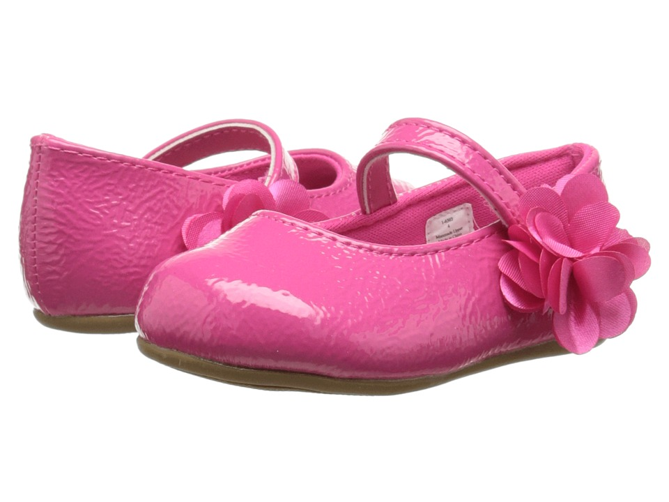 Baby Deer - Patent Skimmer Walker Sole (Infant/Toddler) (Fuchsia) Girls Shoes