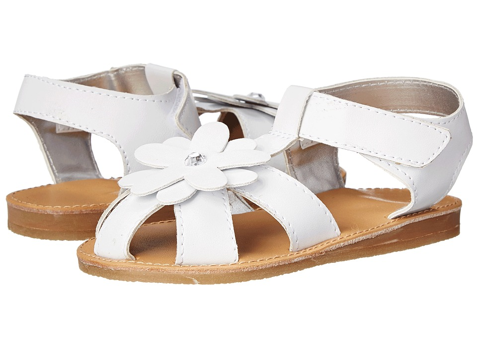 Baby Deer - T-Strap Sandal (Infant/Toddler) (White) Girls Shoes
