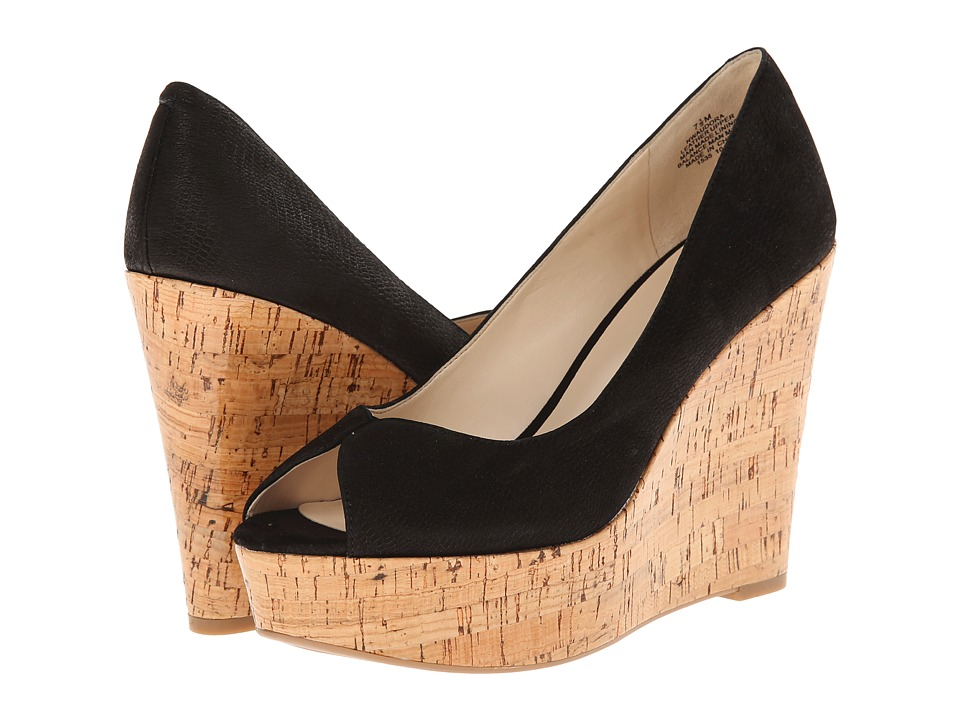 Nine West - Audora (Black Nubuck) Women's Wedge Shoes