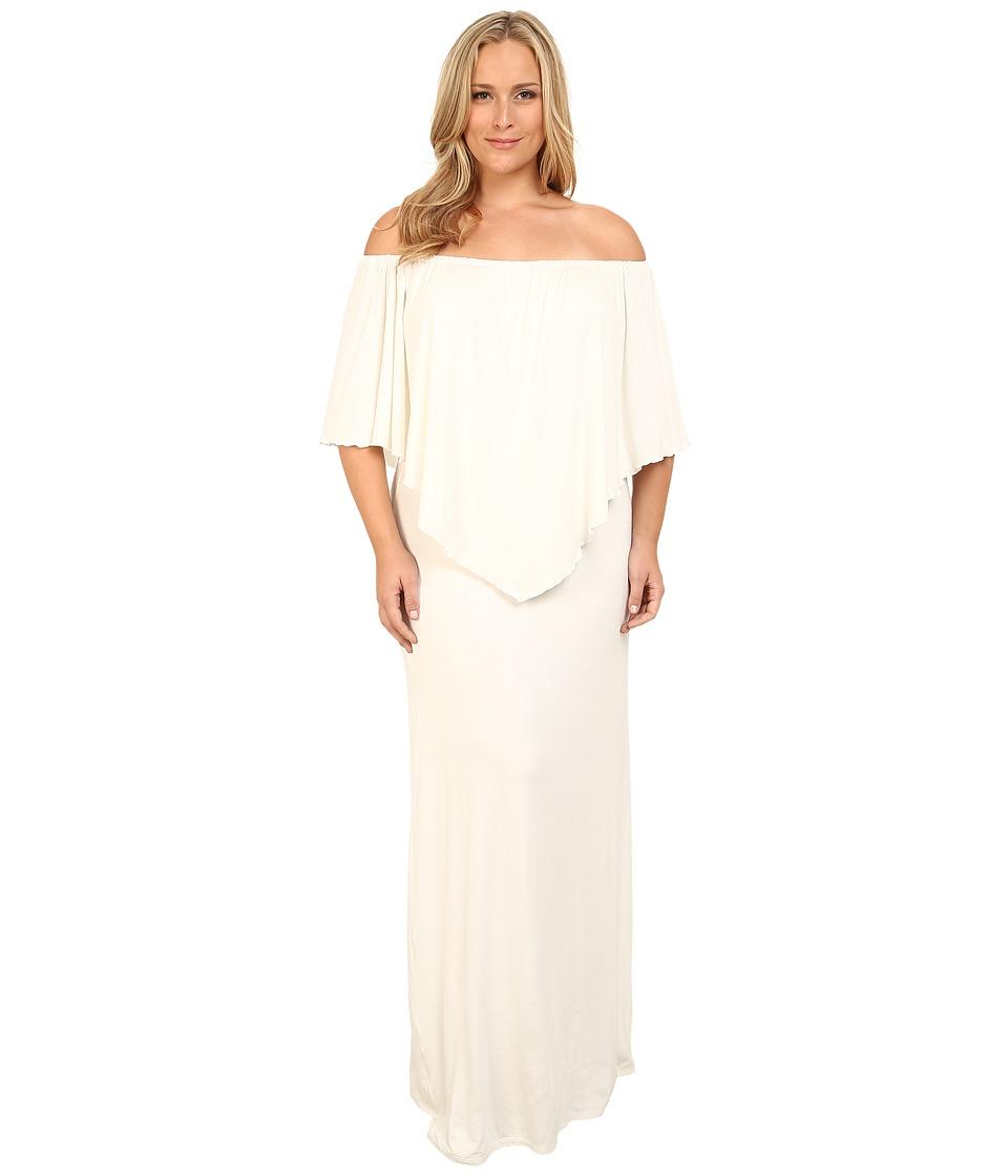 Culture Phit - Plus Size Ayden Dress (White) Women's Dress