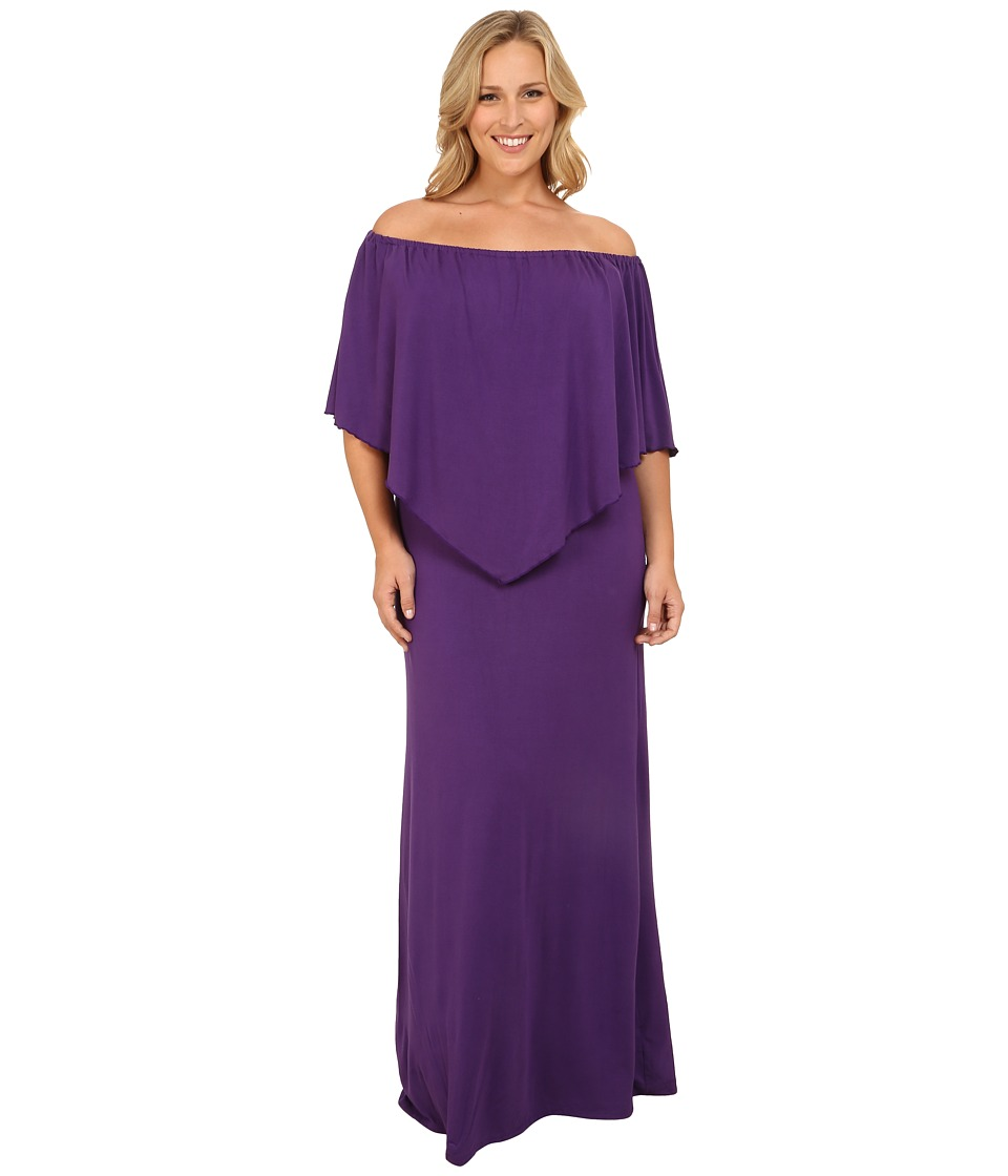 Culture Phit - Plus Size Ayden Dress (Dark Purple) Women's Dress