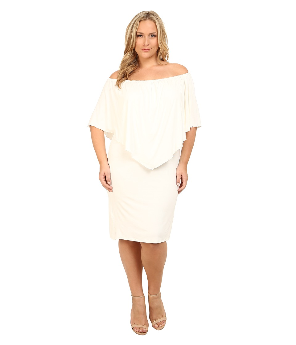 Culture Phit - Plus Size Nalah Dress (White) Women's Dress