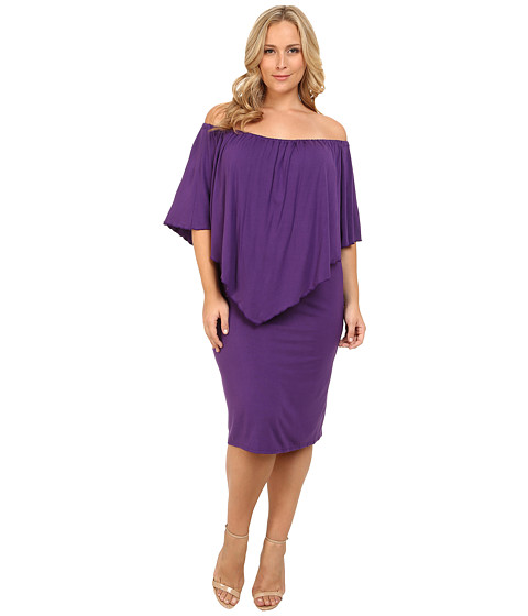 Culture Phit - Plus Size Nalah Dress (Dark Purple) Women's Dress