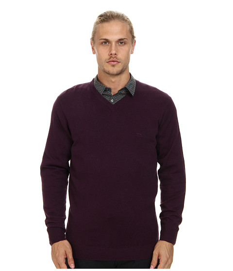 Rodd & Gunn - Inchbonnie Knit Sweater (Mulberry) Men's Long Sleeve Pullover
