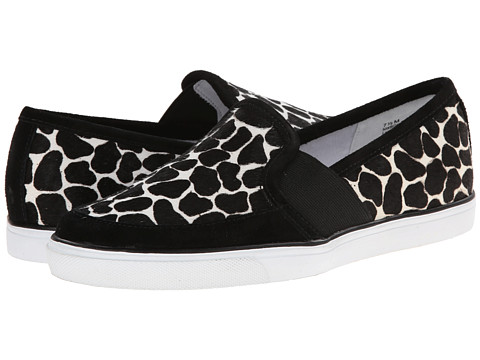 Nine West - Bonkers (White/Black Multi Pony) Women's Slip on Shoes