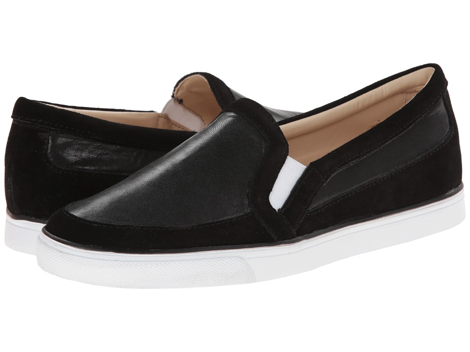 Nine West - Brodie3 (Black Leather) Women's Slip on Shoes