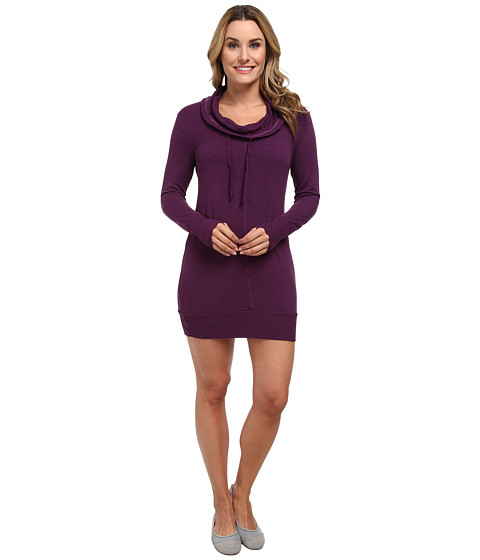 Pink Lotus - No-Sweat Cowl Tunic Dress (Libertine Violet) Women's Dress