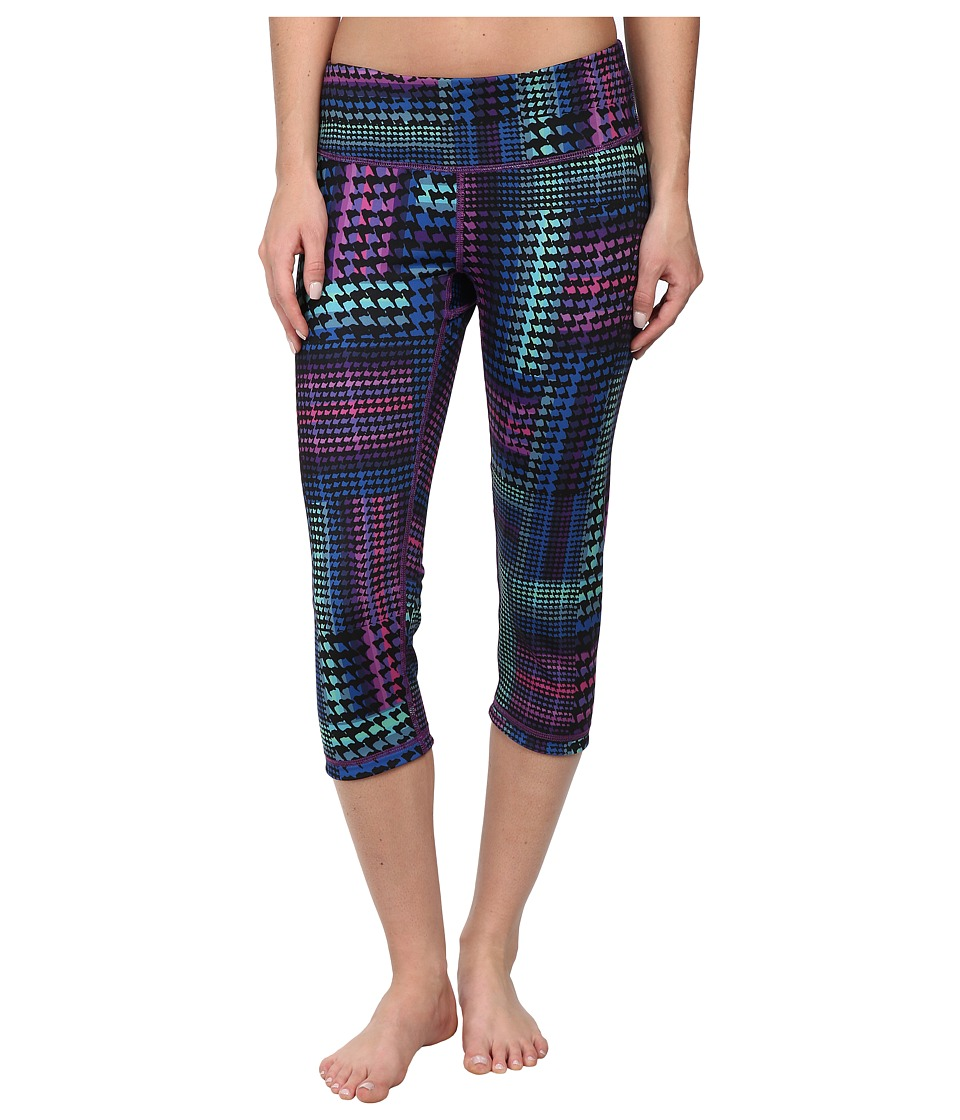Pink Lotus - Inverted Reversible Crop (Rainbow Houndstooth) Women's Casual Pants