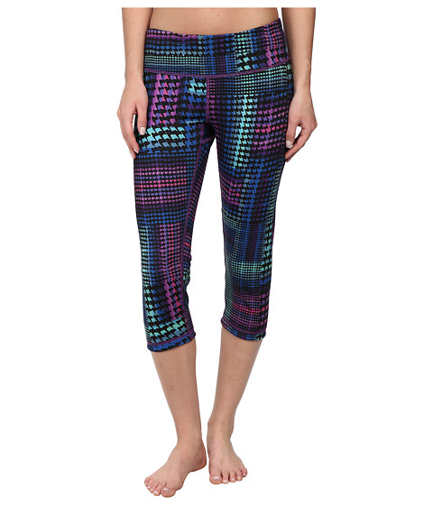 Pink Lotus - Inverted Reversible Crop (Rainbow Houndstooth) Women