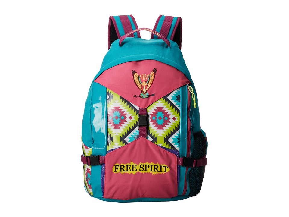 Gypsy SOULE - Free Spirit Backpack (Turquoise/Lime/Pink) Backpack Bags