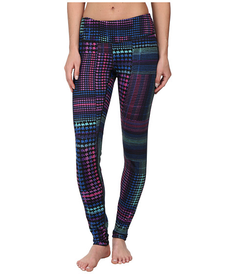 Pink Lotus - Inverted Reversible Legging (Rainbow Houndstooth) Women