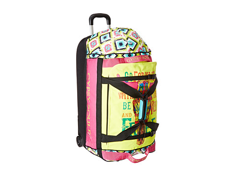 Gypsy SOULE - Go Forward Roller Luggage (Turquoise/Lime/Pink) Luggage