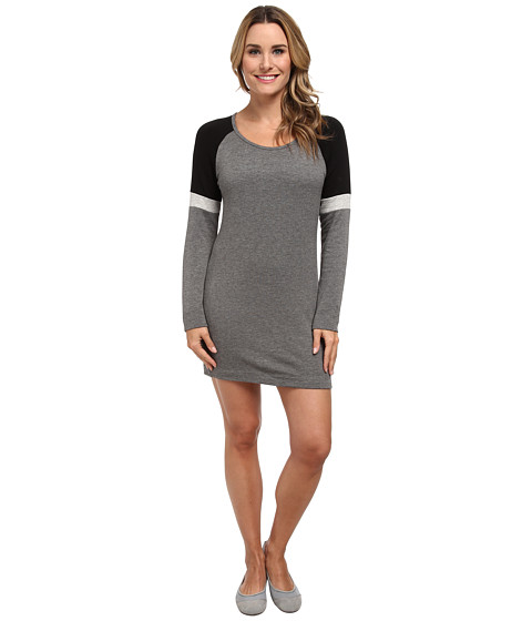 Pink Lotus - Odyssey Sweatshirt Dress (Charcoal) Women's Dress