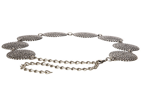 Steve Madden - Conche Chain (Antique Nickel) Women's Belts