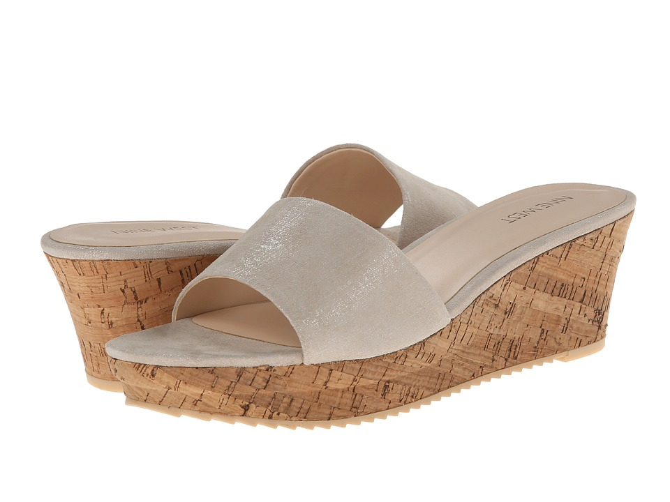 Nine West - Confetty (Taupe Leather) Women's Wedge Shoes