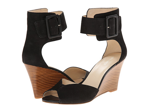 Nine West - Crudenza (Black Nubuck) Women's Wedge Shoes