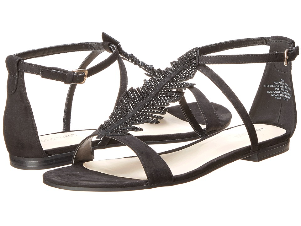 Nine West - Zirysa (Black/Black Fabric) Women's Sandals