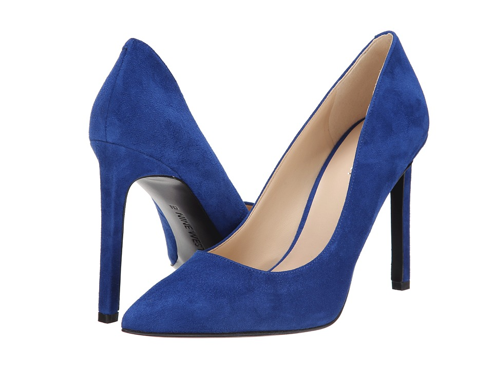 Nine West - Tatiana (Blue Suede) High Heels