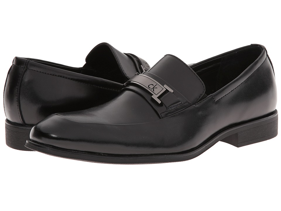 Calvin Klein - Alvin (Black Leather) Men