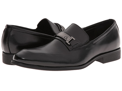 Calvin Klein - Alvin (Black Leather) Men's Shoes