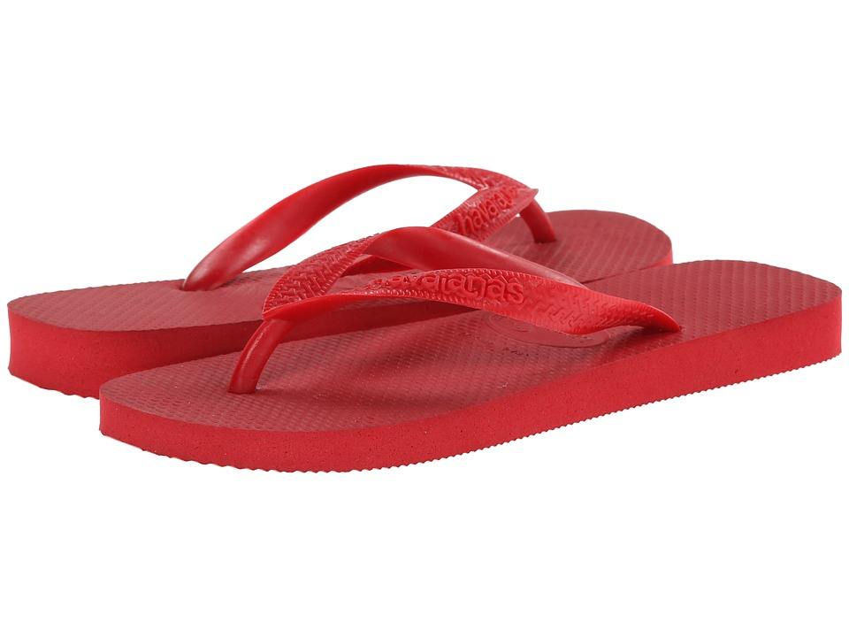 Havaianas - Top Flip Flops (Red) Women's Sandals