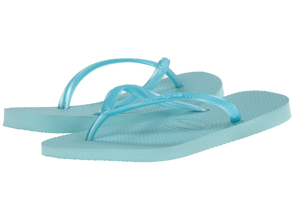 Havaianas - Slim Flip Flops (Ice Blue) Women