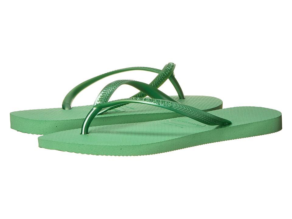 Havaianas - Slim Flip Flops (Pistachio) Women