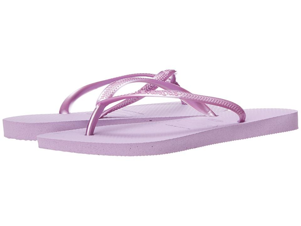 Havaianas - Slim Flip Flops (Soft Lilac) Women