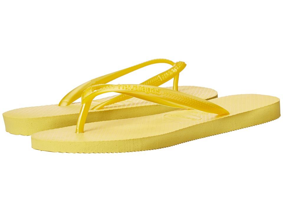 Havaianas - Slim Flip Flops (Light Yellow) Women's Sandals