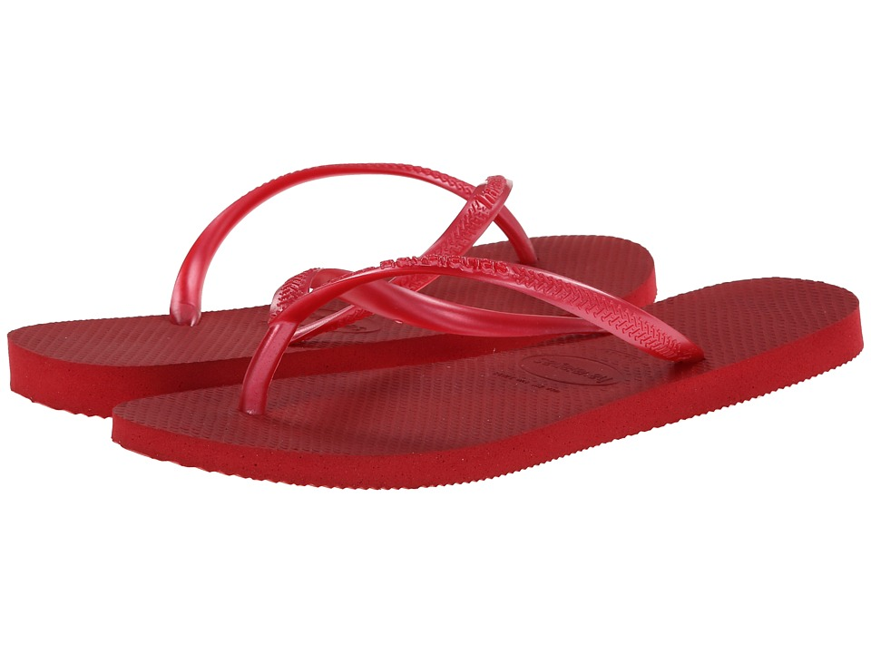 Havaianas - Slim Flip Flops (Red) Women's Sandals