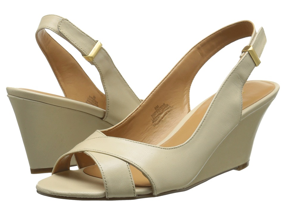 Nine West - Perceive (Light Natural Leather) Women's Wedge Shoes
