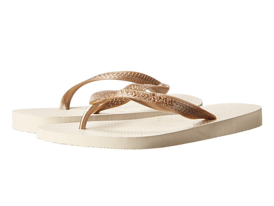 Havaianas - Top Metallic Flip Flops (Beige) Women's Sandals