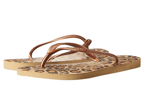 Havaianas - Slim Animals Flip Flops (Beige) Women