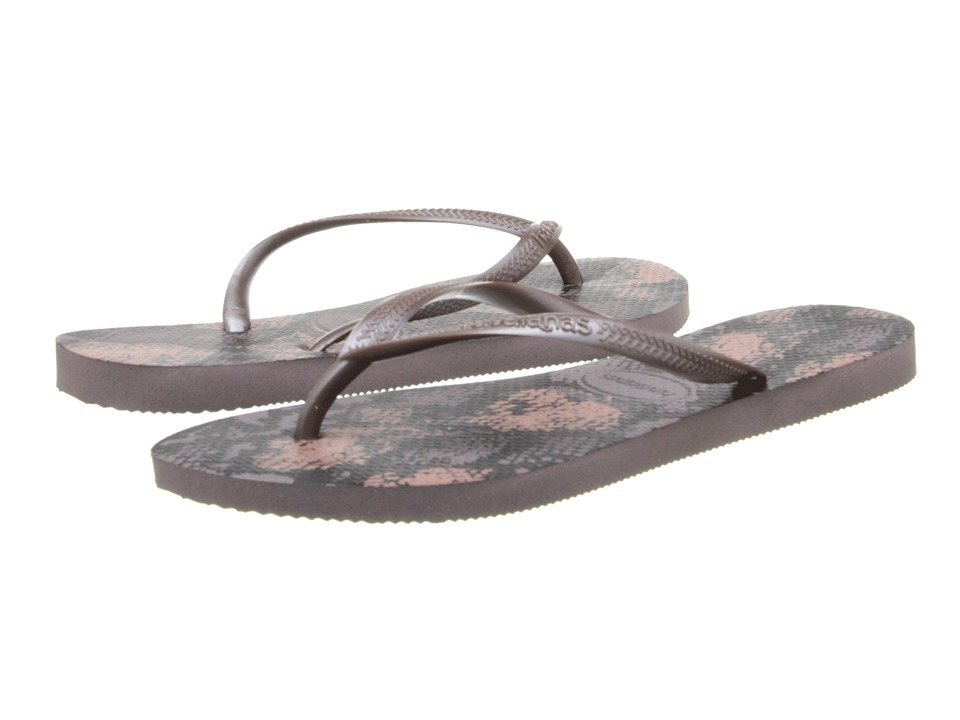 Havaianas - Slim Animals Flip Flops (Fog) Women's Sandals