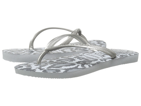 Havaianas - Slim Animals Flip Flops (Ice Grey) Women's Sandals