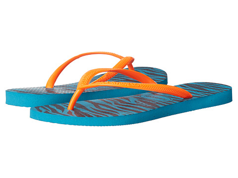 Havaianas - Slim Animals Flip Flops (Capri Blue) Women's Sandals