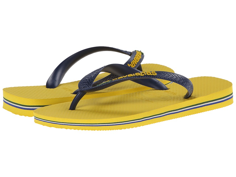 Havaianas - Brazil Logo Flip Flops (Steel Grey 1) Women's Sandals
