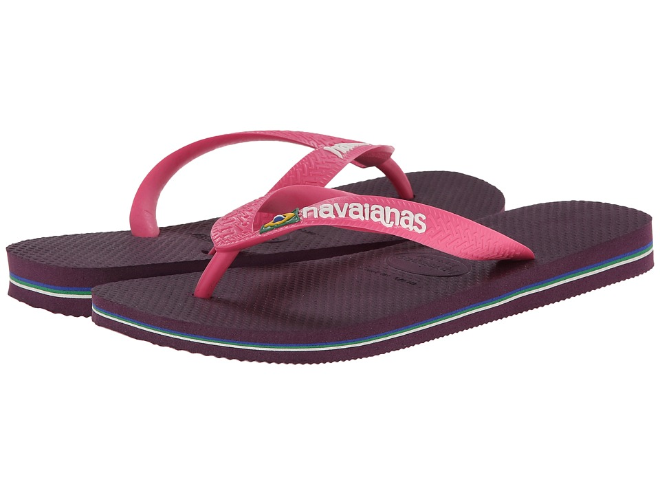 Havaianas - Brazil Logo Flip Flops (Aubergine) Women's Sandals