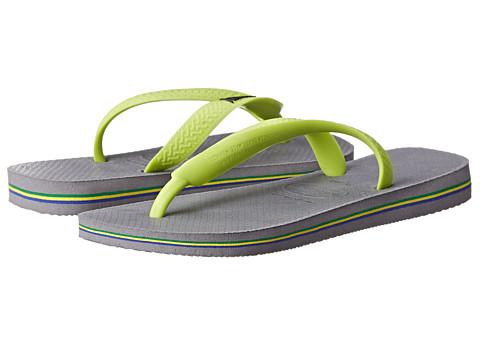 Havaianas - Brazil Logo Flip Flops (Steel Grey) Women's Sandals