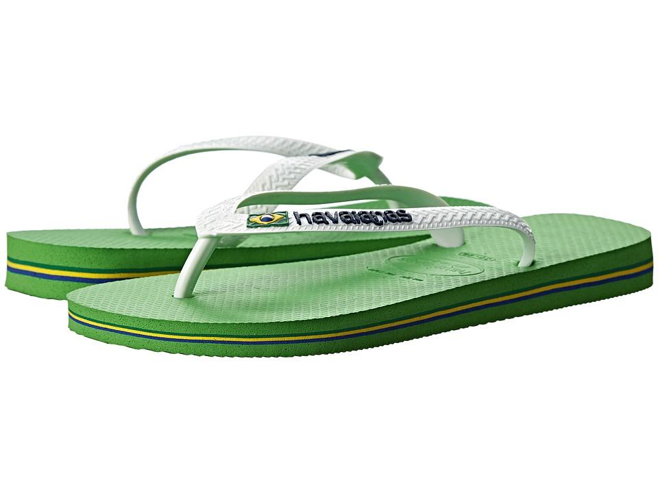 Havaianas - Brazil Logo Flip Flops (Neon Green) Women's Sandals