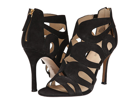 Nine West - Flora (Black Nubuck) High Heels