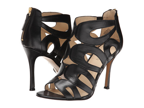 Nine West - Flora (Black Leather) High Heels
