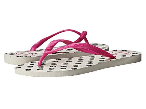 Havaianas - Slim Fresh Flip Flops (White/Rose) Women