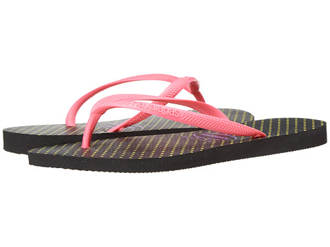Havaianas - Slim Fresh Flip Flops (Black/Rose) Women